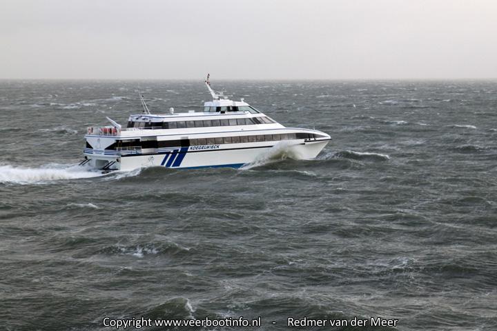 Snelboot Koegelwieck Terschelling met storm