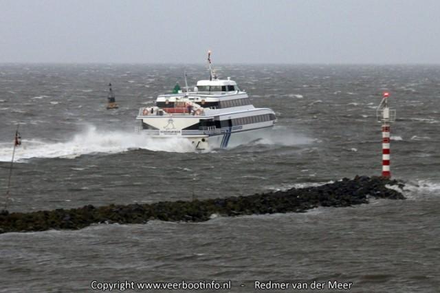 Koegelwieck storm snelboot vlieland