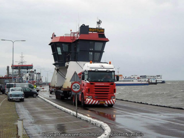 Transport Ameland stuurhut Rottum/Sier