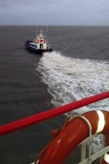 Veerboot Monnik vastgelopen