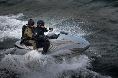 Waterscooter terreuroefening