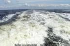 Zog schroefwater catmaran Noord Nederland