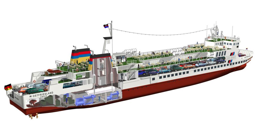 Ostfriesland LNG veerboot verbouwing