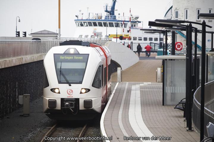 Overstap trein veerboot Harlingen Haven